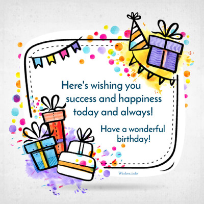 heres wishing you success